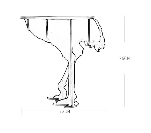 Diva Ostrich Table (Replica) (12)