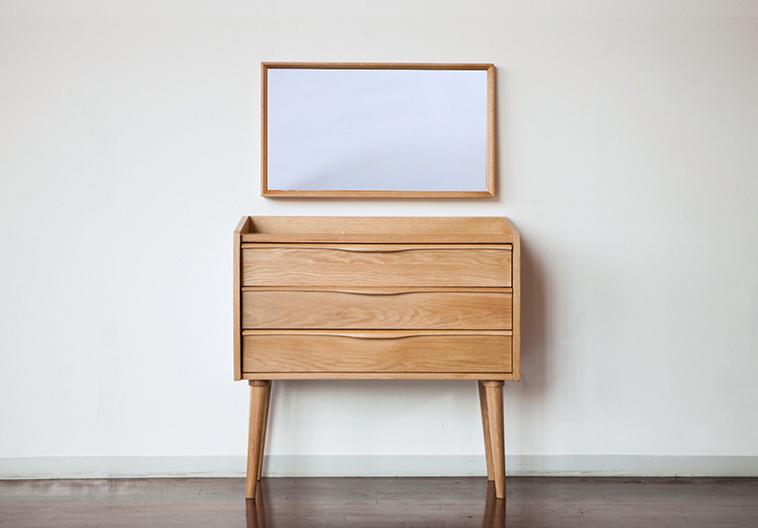Wood Furniture Singapore Namu N8 Dressing Table Cabinet Includes