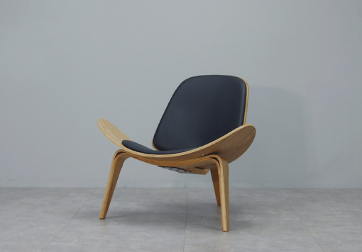 Shell Chair Replica_Black_2