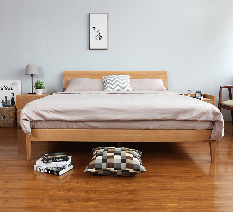 huge discount 654d4 d8590 Antoine Wood Bed Frame (Solid Oak Wood)