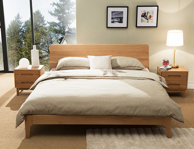 Wood Bed Headboards ~ Wooden bed frame beaumont