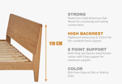 Wood Bed Frame Singapore Beaumont SPECS
