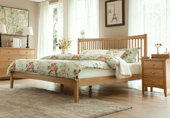 thames wood bed frame solid oak wood