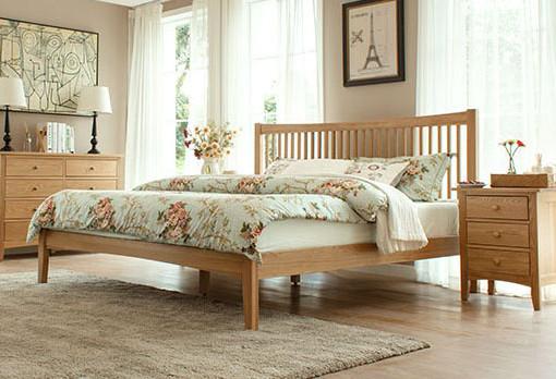 Wood Bed Frame Singapore Thames Oak (1)