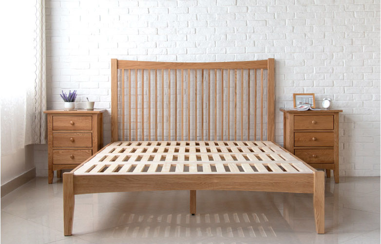 Wood furniture singapore thames wood bed frame solid for Furniture singapore