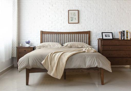 Wood Bed Frame Singapore Thames Walnut (4)