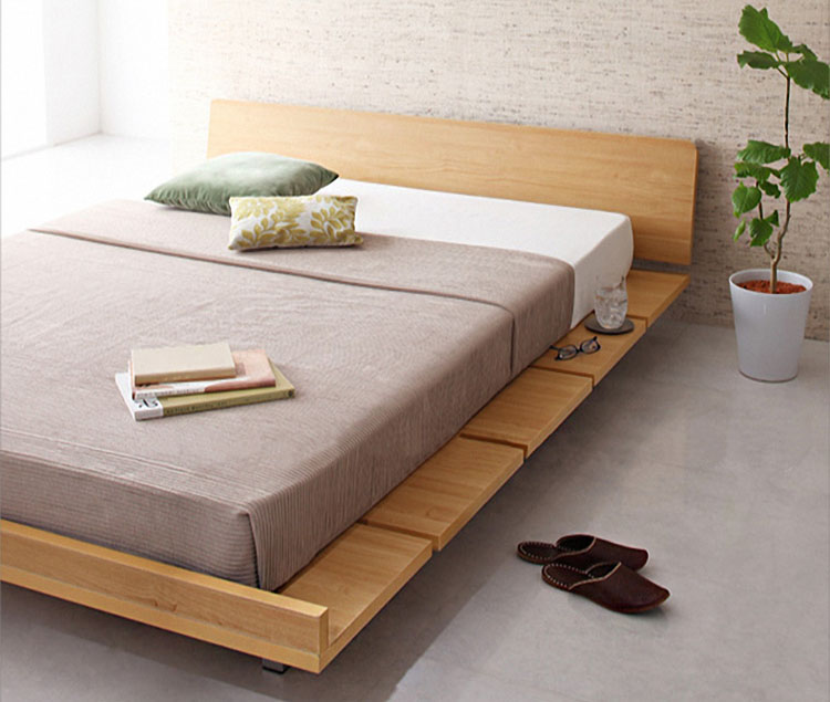 Wood furniture singapore amaya wood bed frame platform for Best minimalist bed frame
